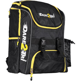 Dare2Tri Transition Rugzak 33L, black/yellow